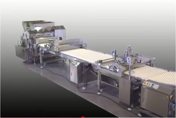 Rheon Multi Confectioner za linijsko proizvodnjo slaščic.