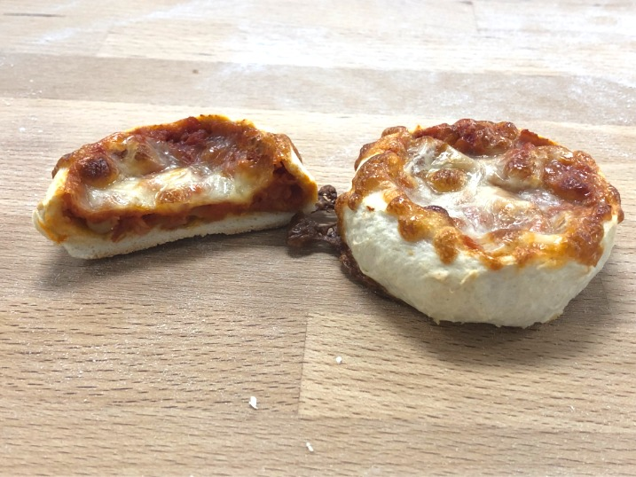Mini pizza presek