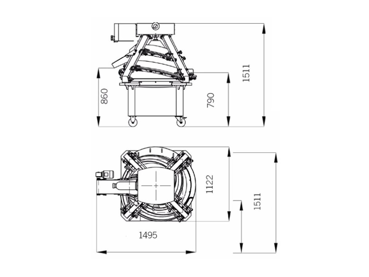 CR-360 – naprava za okroglo oblikovanje testa, stožec-02
