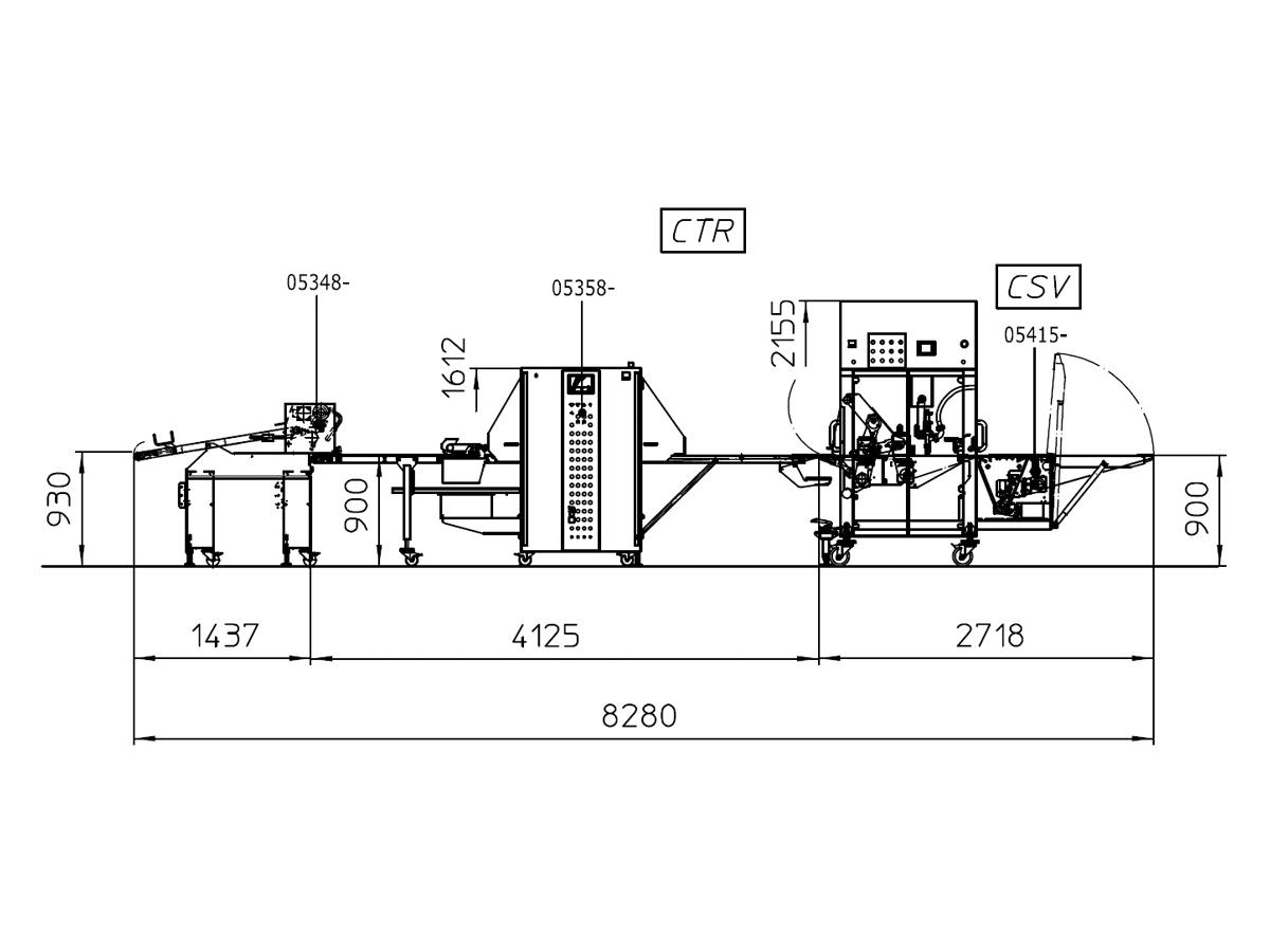 Linija za oblikovanje rogljičkov CTR-06