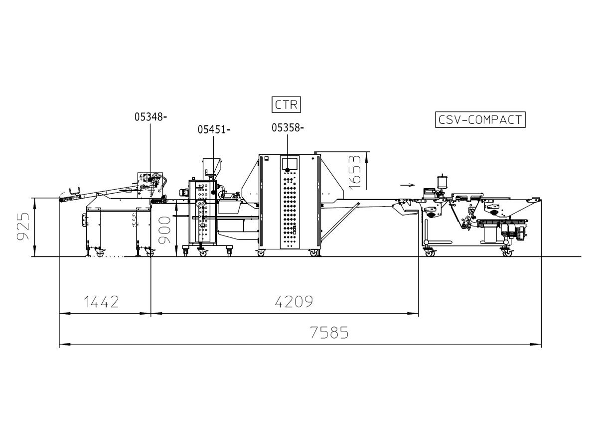 Linija za oblikovanje rogljičkov CTR-08