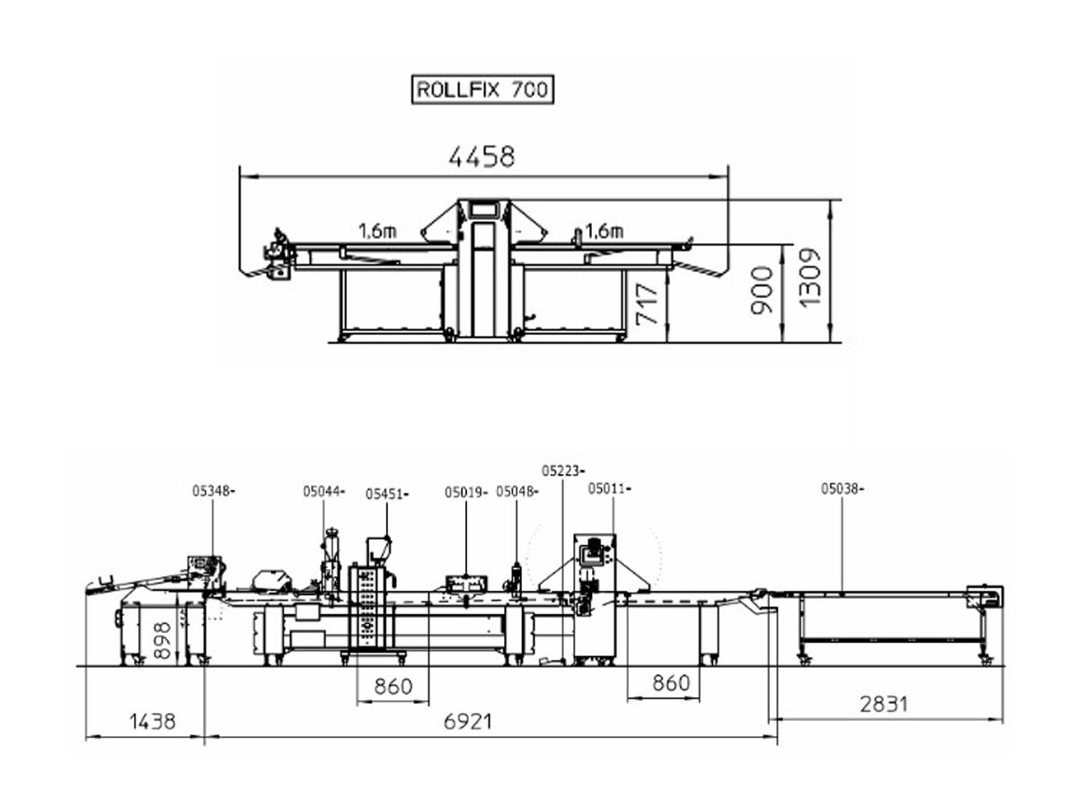 Linije za oblikovanje finega peciva Euroline, Easyline-09