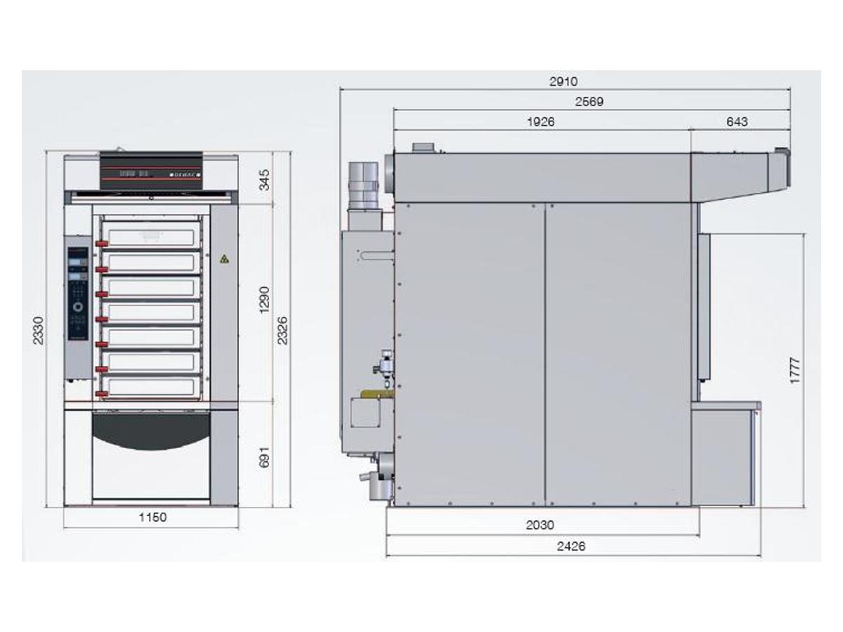 Ciklotermična etažna peč DEBAG MONSUN-02